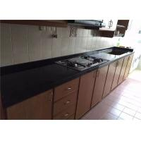Wholesale High Hardness Preformed Kitchen Countertops Black Galaxy Quartz Stone from china suppliers