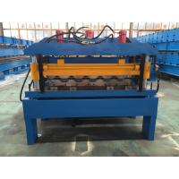Best Hydraulic Cutting Steel Roofing Tile Roll Forming Machine With Chain Drive 2-4m/Min wholesale