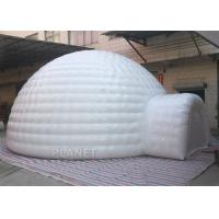 Wholesale Giant Inflatable Igloo Tent , White 3.5 M Height Inflatable Outdoor Tent from china suppliers