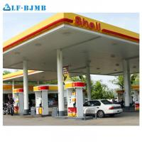 China Prefab Fast Installation Cost of Gas Petrol Station Canopy Steel Structure Roof for sale