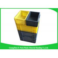 Wholesale Self Adhesive Label Holders Stackable Plastic Storage Containers , Euro Plastic Storage Boxes from china suppliers