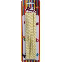 Wholesale Yellow and White Long Birthday Cake Candles (YFC0003) from china suppliers
