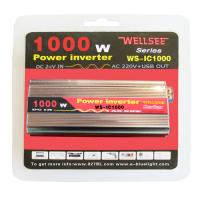Wholesale Portable WELLSEE WS-IC1000 power inverter dc/ac 12v 220v from china suppliers