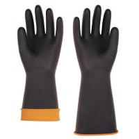 Wholesale Heavy-duty Rubber Latex Glove,smooth palm,black/orange color,weight 190g,size 14''and 18'' from china suppliers