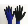Black Foam Latex Coated Work Gloves 13 Gauge Nylon Knitting Seamless Liner for sale