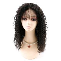 Kinky Curly Front Lace Wigs , Lace Front Full Wigs Human Hair 8A Grade