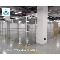 China Class 10000  Pharmaceutical  Clean Booth, FFU clean room, Aluminum structure, with Sliding Doors for sale