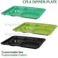 Wholesale 5 Compartment Lunch Box Disposable Plastic Food Container, biodegradable Fast Food Tray, disposable safety meat tray from china suppliers