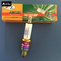 Ceramice Colorful Motorcycle Spark Plugs W / L U3AS / A7TC Nickel With Tip Electrode