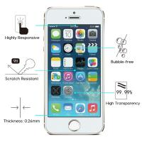 Wholesale 9H Hardness IPhone Tempered Glass Screen Protector Anti Scratch HD Retina Clarity from china suppliers