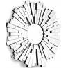 Sunburst Design 3D Wall Mirror For Hotel Decoration Full Glass Mirror for sale