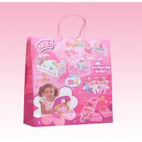 custom white kraft paper gift bags with twist paper handle manufacturer for sale