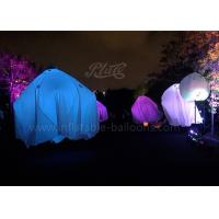 Wholesale 2m 190T Inflatable Lighting Balloon , Ghost Hanging Air Light Balloon Halloween Decorations from china suppliers
