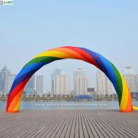 Wholesale Advertising Beautiful Rainbow Inflatable Arches For Event Party Decoration from china suppliers