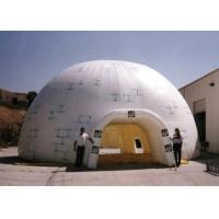 China 10 meters dia. triple layers white inflatable dome tent with big entrance for sale