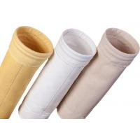 China Cement Silo Polyester Felt Filter Bag 2000 - 9000mm Length 190 Degree Working Temperature on sale