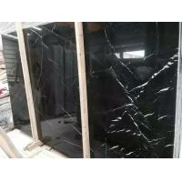 China China Guangxi Marble Slabs Polished Nero Marquina Marble Slabs Guangxi Black Marble Slabs for sale