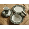 superwhite porcelain/ceramic  24pcs dinnerware set with colour box /round dinner set for sale