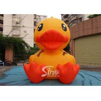Wholesale 3m High Giant Inflatable Yellow Duck For Advertising On Ground For Outdoor Promotion from china suppliers