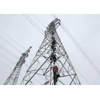 China Hot dip Steel Transmission Tower Q235B / Q345B Material With Angle Steel Member for sale