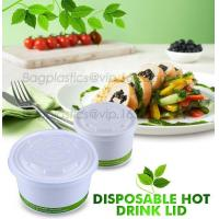 Wholesale PLA compostable lids, BPI certificated compostable coffee cup lid made in China, Coffee cup with CPLA lid from china suppliers