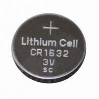 Wholesale 3V Lithium/Manganese Dioxide Button-cell Battery, 130mAh Nominal Capacity  from china suppliers