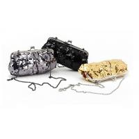 Grey Black and Golden color sequin material Excellent design clutch bag wholesale