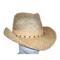 Wholesale Summer Seagrass Fashion Womens Straw Cowboy Hats With Wooden Beads For Party, Beach from china suppliers