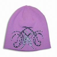 Buy cheap Acrylic Knitted Hat, Various Colors are Available from wholesalers