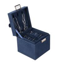 China Lightweight Retail Jewelry Box , Easy To Take Leather Black Jewelry Box for sale