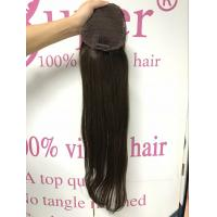 China Soft 100 Human Hair Ponytail Extension Pony Type Fashionable Elastic Bands on sale