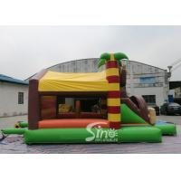 Quality Outdoor kids commercial jungle monkey inflatable combo in monkey theme park for for sale