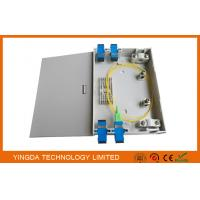 Wholesale Wall Mount FTTH Fiber Optic Termination Box , Indoor Plastic ABS PC 2 Ports Fiber Optic Box from china suppliers