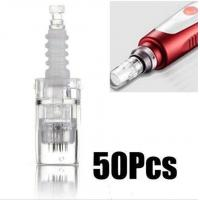 Wholesale Derma Micro Needle Therapy Pen , 12 Pins Clear Cartridge Nano Pen Needles from china suppliers
