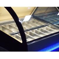China Fan Cooling Ice Cream Freezer Case -16~-22℃ With Digital Temp Controller and 2000mm Length for sale