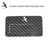 China Customized Carbon Fiber Business Card 100% Carbon Fiber Material 0.2mm thickness for sale