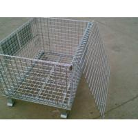 Wholesale Galvanized Industrial Storage Cage  / Lockable Wire Cages 4.0-5.0mm Wire Dia from china suppliers