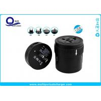 Wholesale Round 220v To 110v Input USB Travel Adapter UK US EU AUS Plug White / Black Color from china suppliers