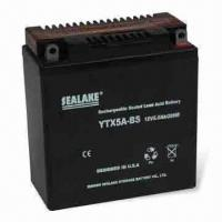 Wholesale Dry-charged Motorcycle Battery with 12V Nominal Voltage, Maintenance-free from china suppliers