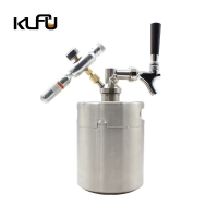 Wholesale Weight 0.87kgs / 1.102kgs Silver Cold Brew Nitrogen Coffee Keg from china suppliers