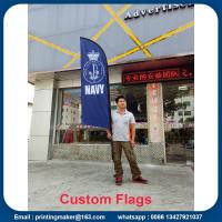 Wholesale Outdoor Custom Blade Feather Flags With Ground Spike from china suppliers