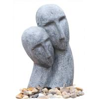 Wholesale Long Face Figure Outdoor Resin Garden Fountains Decor OEM Acceptable from china suppliers