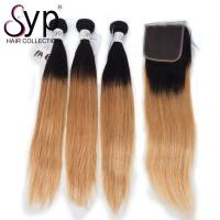 Wholesale 2T Two Tone 1B / 27 Color Ombre Straight Hair Double Drawn Full Cuticle Aligned from china suppliers