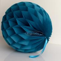 China Peacock Tissue Paper Honeycomb Balls Pom Poms For Hanging for sale