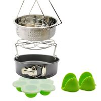 China Best Product Wholesale Pot Accessories Set 10 Pcs Silicone Steamer Basket, Egg Rack,Dish Plate Clip, Egg Bites Mold, Oven Mitts on sale