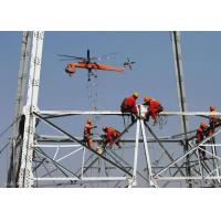 Silver High Voltage Transmission Towers , High Tension Overhead Line Tower for sale