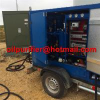 Trolley Mounted Transformer Oil Purifier, Trailer insulation Oil Regeneration System,mobile oil recycling machine cover for sale