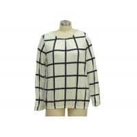 Wholesale Checks Patterned Office Ladies Casual T Shirts Basic Womens Tees Custom Size from china suppliers