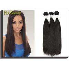 Black Remy Virgin Human Hair Extensions , Peruvian Straight Hair