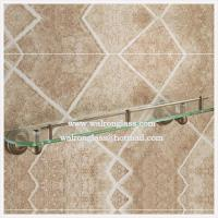 Wholesale Corner Round Clear Tempered/Toughen Glass for Bathroom Shelf with Customized Holes from china suppliers
